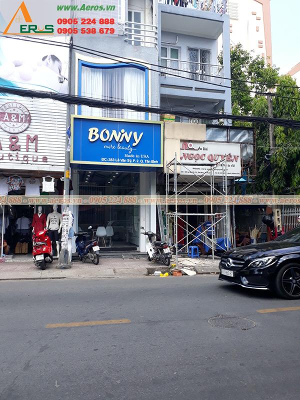 THiẾT KẾ THI CÔNG SHOP MỸ PHẨM BONIVY Ở TẠI QUẬN TÂN BÌNH, TP HCM