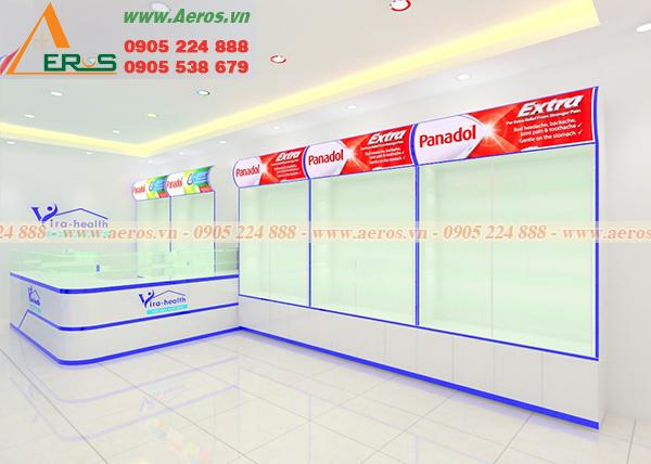 Làm bảng hiệu quảng cáo hiệu thuốc tây Vira Health tại quận Tân Bình, THHCM