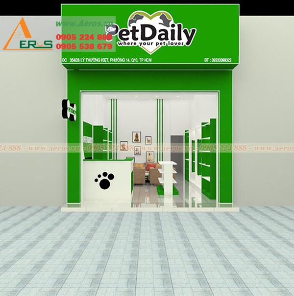 hình ảnh thiết kế bảng hiệu shop thú cưng petdaily tại quân 10, TPHCM