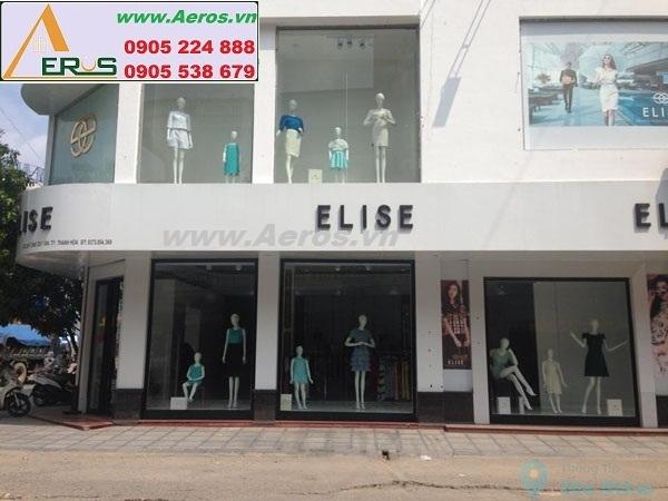 Thi công bảng hiệu shop thời trang Elise