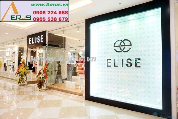 Thi công bảng hiệu tại shop thời trang Elise