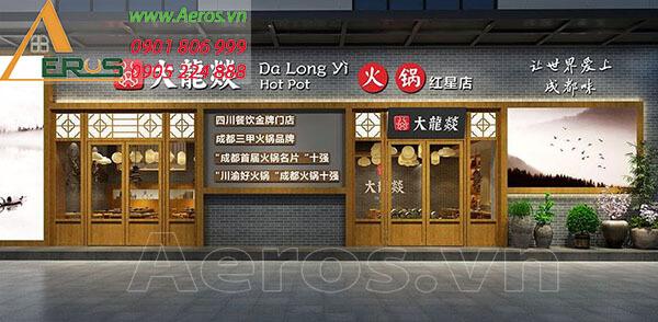 Thiết kế bảng hiệu nhà hàng Trung Hoa