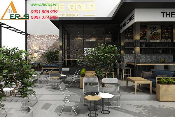Làm bảng hiệu quán cafe The Gold Coffee tại quận 1, tphcm