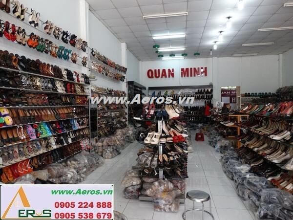 Thiết kế bảng hiệu giá rẻ shop giày Quân Minh