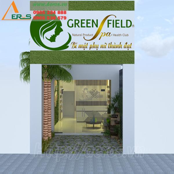 Làm bảng hiệu spa Green Field tại Quận Gò Vấp TPHCM