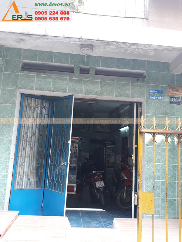 Hình ảnh hiện trạng bảng hiệu shop mỹ phẩm Thiên Bảo tại quận 11, TPHCM