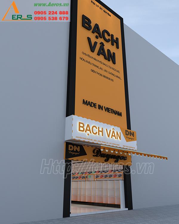 Hình ảnh thiết kế bảng hiệu shop thời trang Duy Ngọc ở quận 6, TPHCM
