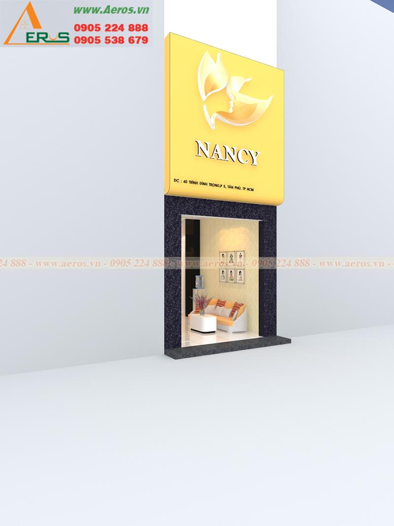 Thiết kế làm bảng hiệu Spa Nancy tại Quận Tân Phú, TPHCM
