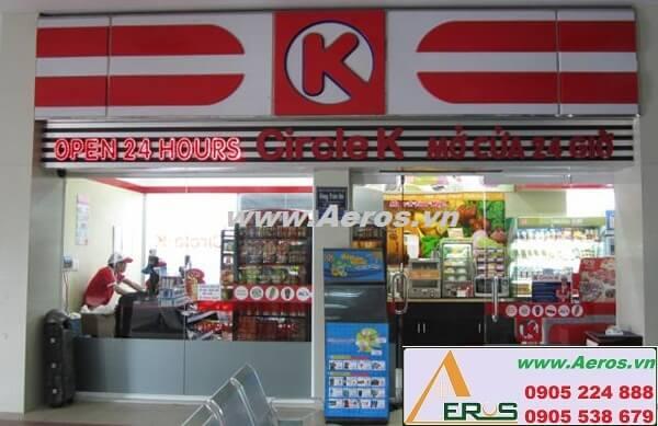 Thiết kế thi công làm bảng hiệu siêu thị mini Circle K