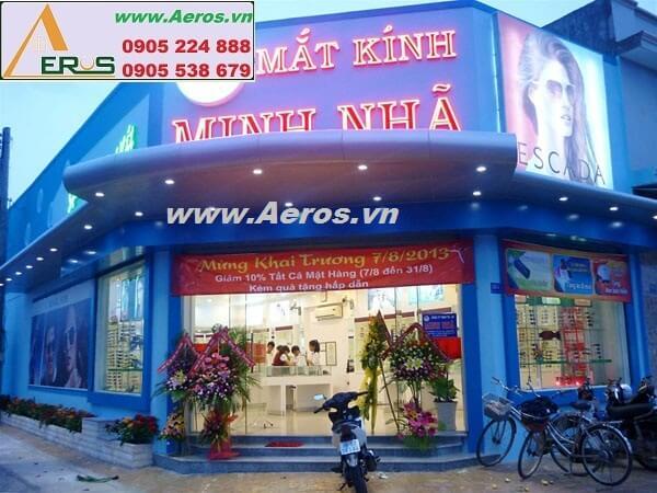 Thi công bảng hiệu cửa hàng mắt kính Minh Nhã