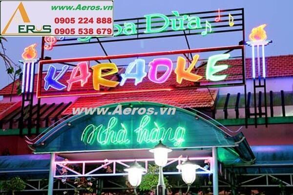 Thi công làm bảng hiệu nhà hàng khách sạn Hoa Dừa tại Bến Tre