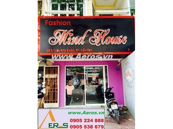 Thi công làm bảng hiệu shop thời trang Mind House