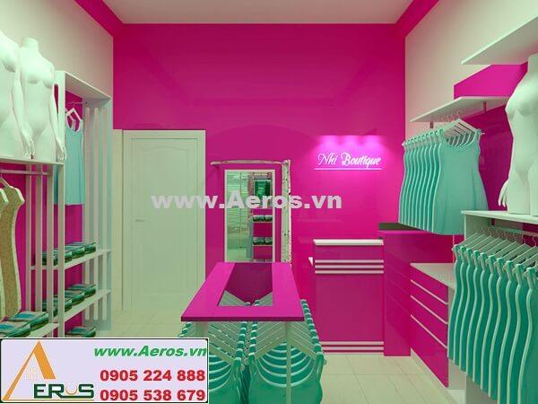 Thi công làm bảng hiệu showroom quần áo Nhi Boutique