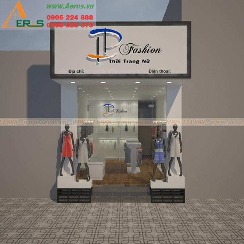 Hình ảnh thiết kế bảng hiệu shop thời trang chị LP tại Bình Dương