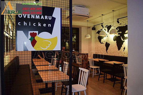 Thiết kế thi công bảng hiệu nhà hàng Ovenmaru