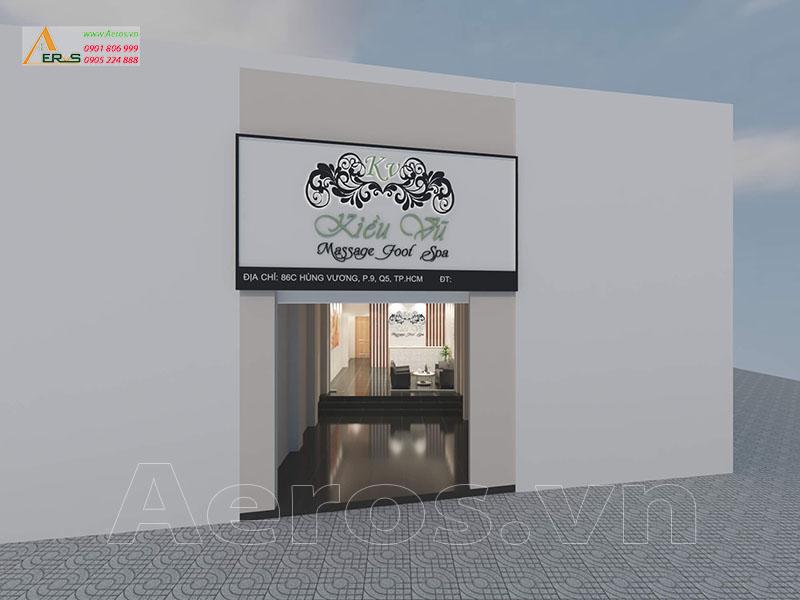 Thiết kế bảng hiệu Spa Kiều Vũ tại Quận 5 TPHCM