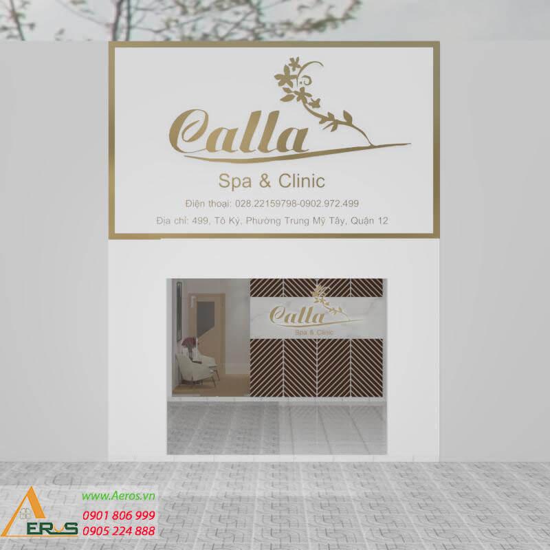 Thiết kế thi công bảng hiệu Spa Calla Tại quận 12