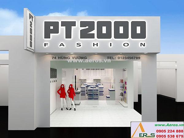 Thi công làm bảng hiệu shop thời trang PT2000 quận 3