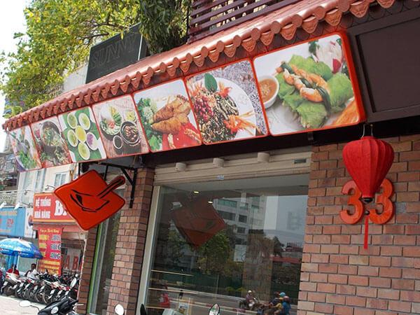 các bảng hiệu quán ăn đẹp