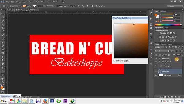 Cách làm bảng hiệu trên Photoshop