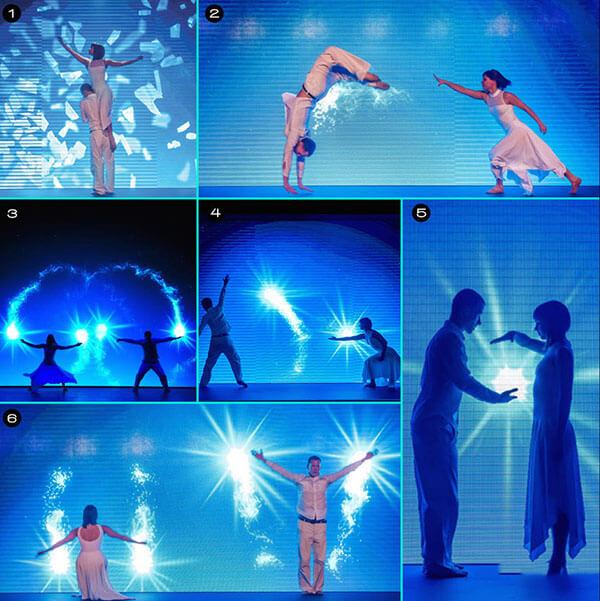 Múa tương tác màn hình Led