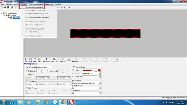 Phần mềm trình chiếu màn hình Led